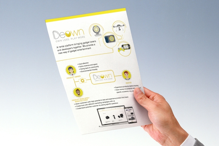 One page flyer mockup01